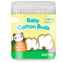 Baby Cotton Buds (400 Tips) by Tiny Buds