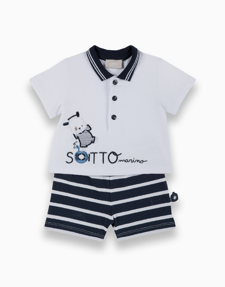 Polo Shirt and Shorts by Chicco   6 MONTHS