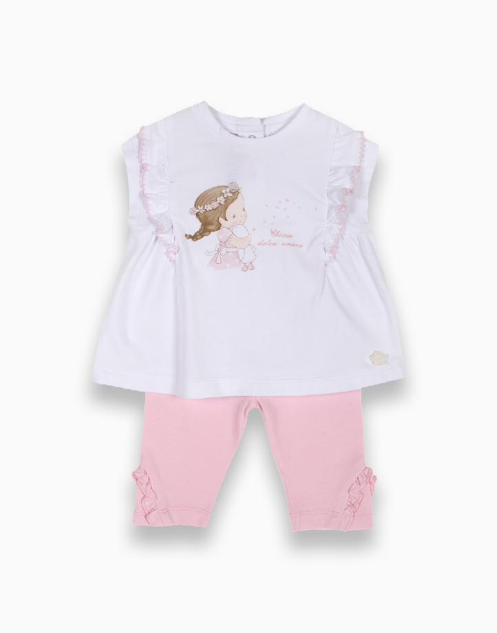 Short Sleeve Tees and Leggings by Chicco | 6 MONTHS