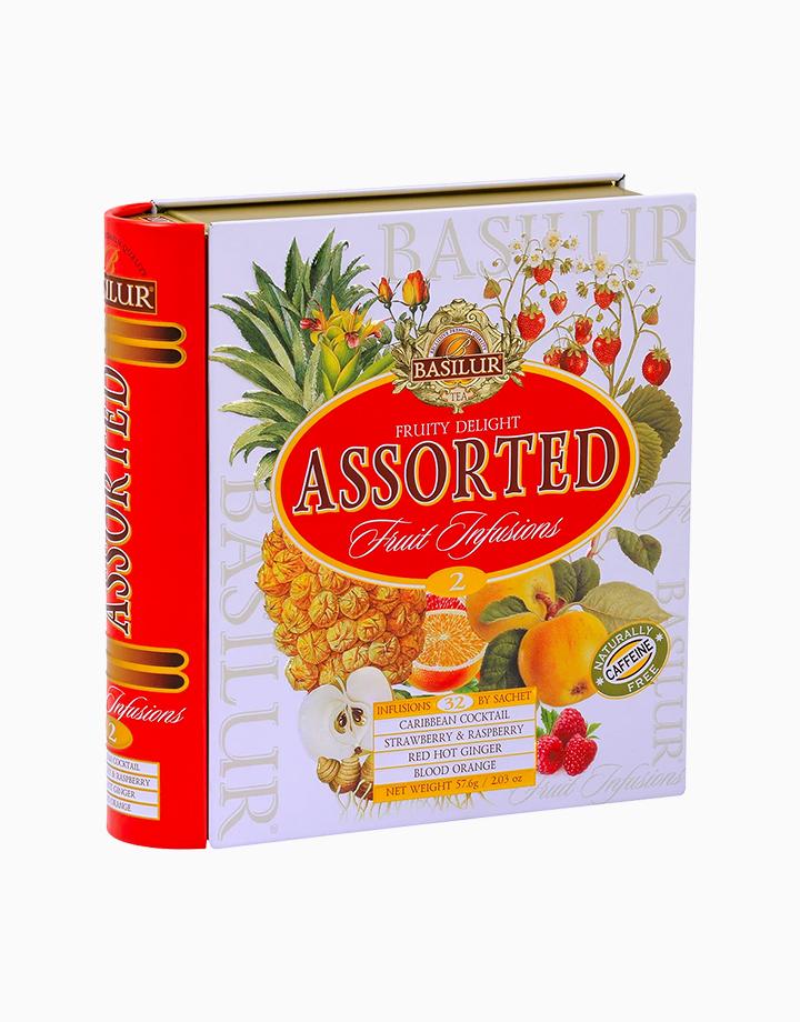Tea Book Assorted Fruity Delight Fruit Infusions Vol. II (32 En) (Caffeine-Free) by Basilur