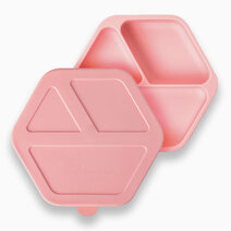 Tiny twinkle silicone suction dish and lid   rose 1