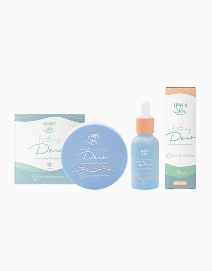 Glowing Skin Face Base Set: Serum Foundation + Aqua Setting Powder by Happy Skin