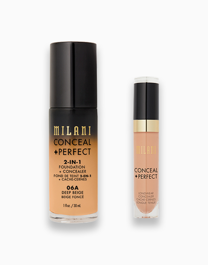 Conceal + Perfect Foundation + Concealer Duo by Milani | 01 Deep Beige + Pure Beige