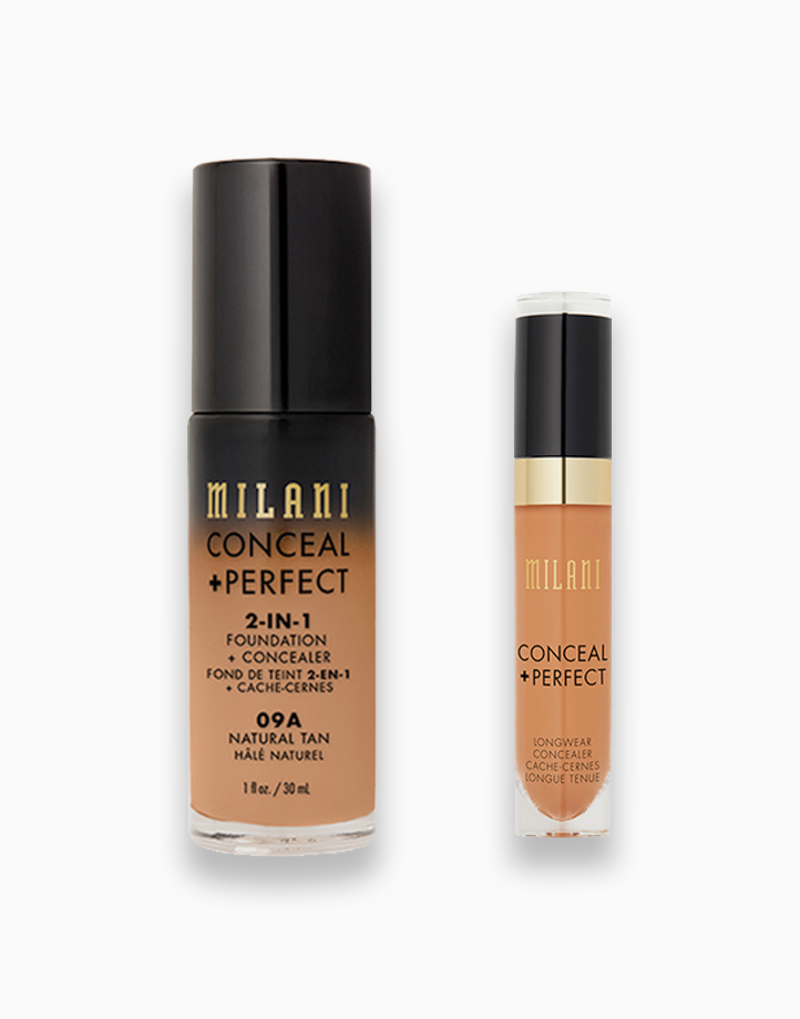 Conceal + Perfect Foundation + Concealer Duo by Milani | 04 Natural Tan + Cool Sand