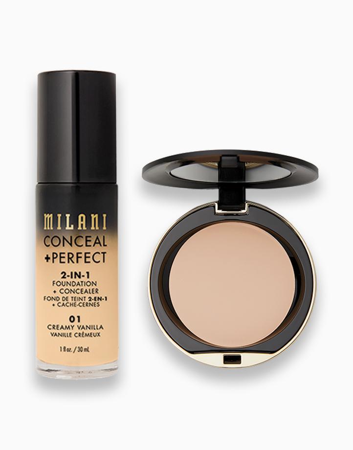 Conceal + Perfect Foundation + Powder Duo by Milani   02 Creamy Vanilla + Nude