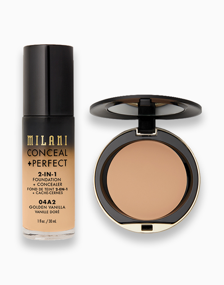 Conceal + Perfect Foundation + Powder Duo by Milani   05 Golden Vanilla + Beige