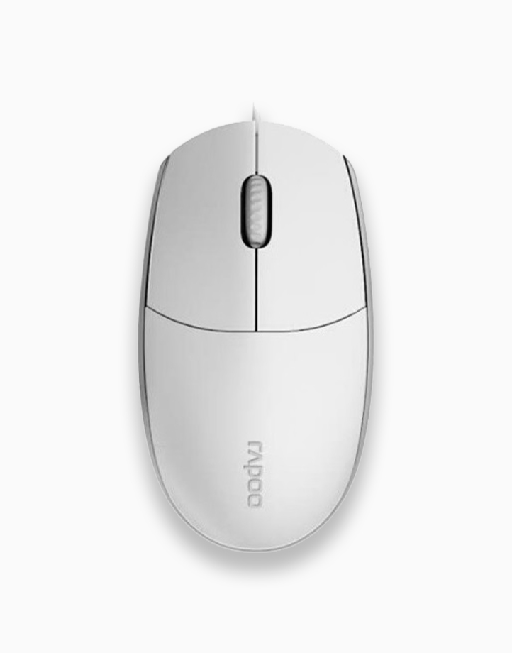 N100 1600 DPI Wired Mouse by Rapoo   White