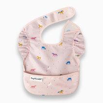 Tiny twinkle mess proof easy bib with ruffles unicorn confetti 1