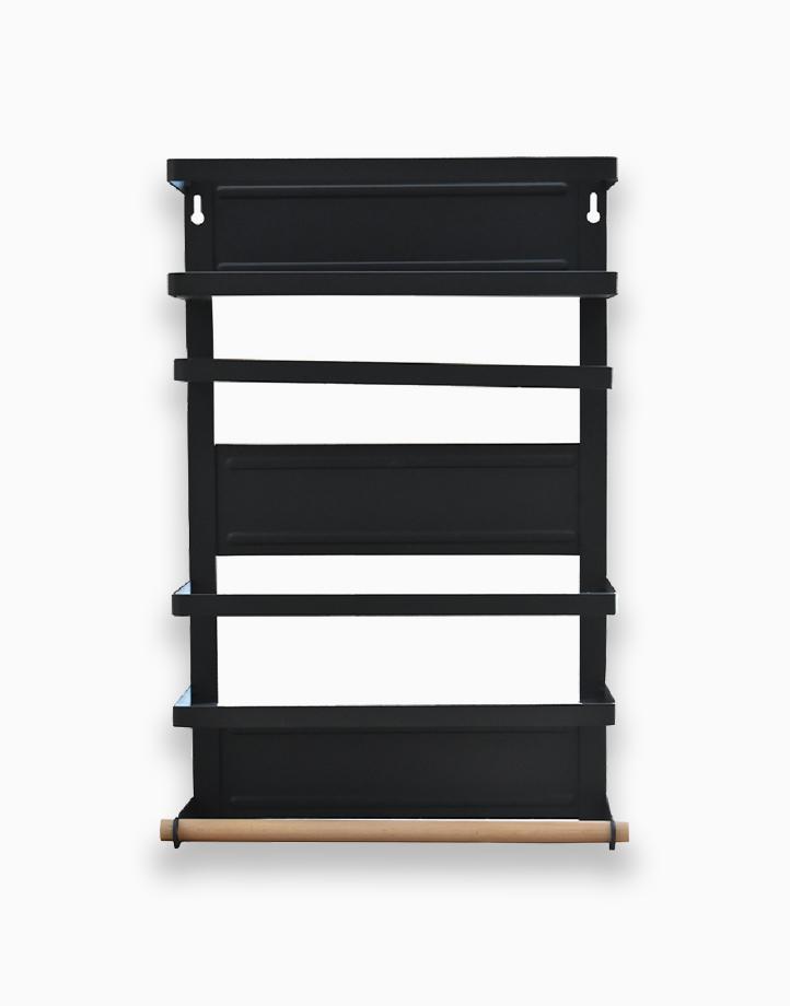 Premium 2-Tier Magnetic Organizer Rack Metal by Sunbeams Lifestyle | Black