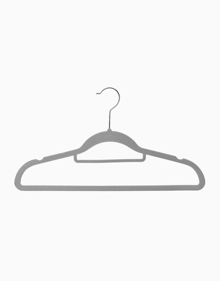 Premium Velvet Hanger for Adults 42cm (Set of 30) by Sunbeams Lifestyle | Grey
