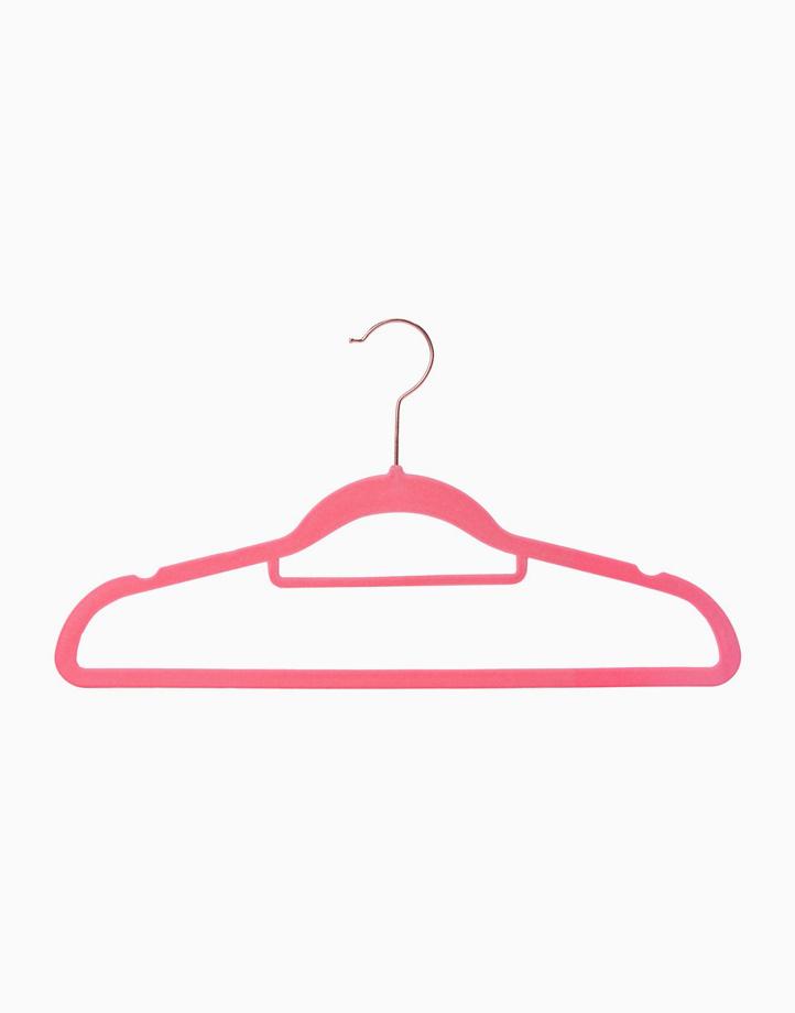 Premium Velvet Hanger for Adults 42cm (Set of 30) by Sunbeams Lifestyle | Pink