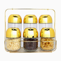 Premium Gold Spice Jars (Set of 6) by Sunbeams Lifestyle