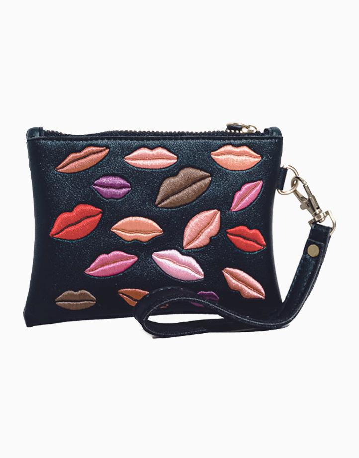 #LipItUpAnyday Pouch by Strokes Beauty Lab | Black