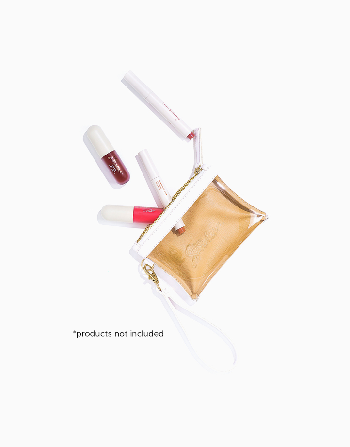 #LipItUpAnyday Pouch by Strokes Beauty Lab | White