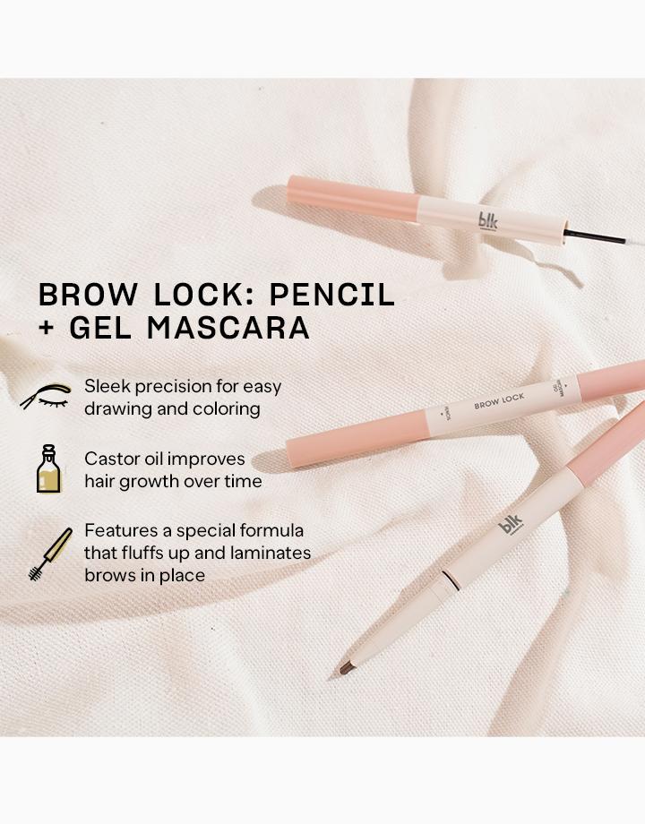 Blk cosmetics daydream brow lock pencil gel mascara taupe