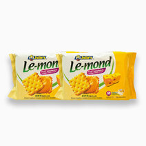 Le-Mond Puff Sandwich Cheddar Cheese Cream (180g - Pack of 2) by Julie's Biscuits