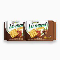Le-Mond Puff Sandwich Chocolate Hazelnut Cream (180g - Pack of 2) by Julie's Biscuits