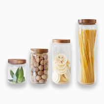 Montana Acacia Silicone Lid Jars (4pc.) by KIMI Home and Lifestyle