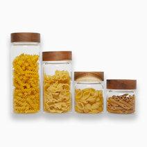 Savannah Acacia Screw-Cap Jars (4pc.) by KIMI Home and Lifestyle
