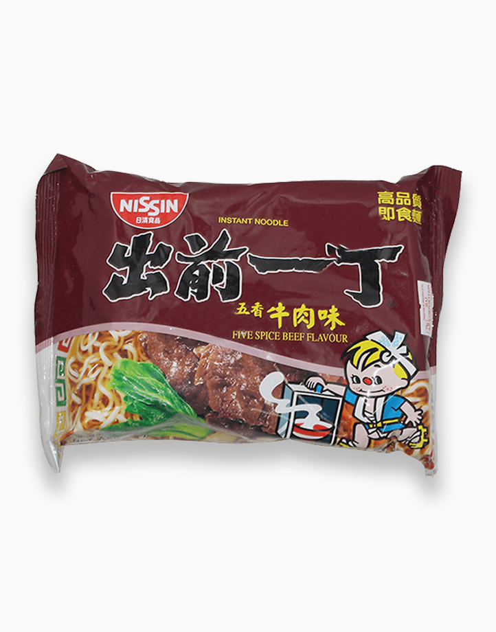 Five Spice Beef Flavor Instant Noodles in Pouch (100g - Pack of 5) by Monde Nissin