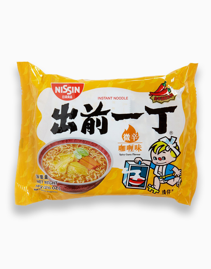 Spicy Curry Flavor Instant Noodles in Pouch (100g - Pack of 5) by Monde Nissin