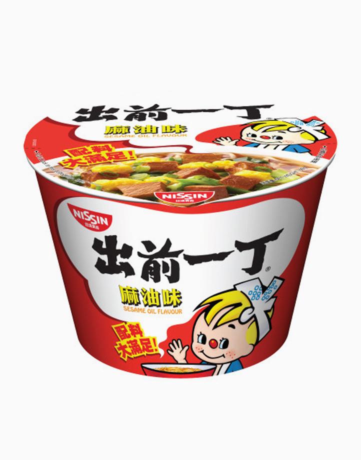 Sesame Oil Flavor Instant Noodles in Bowl (99g) by Monde Nissin