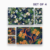 4pc. Hiraya Placemat and Coaster Set (Design B) by KIMI Home and Lifestyle