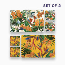 2pc. Hiraya Placemat and Coaster Set (Design C) by KIMI Home and Lifestyle