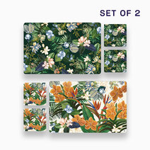 2pc. Hiraya Placemat and Coaster Set (Design D) by KIMI Home and Lifestyle