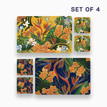 4pc. Hiraya Placemat and Coaster Set (Design E) by KIMI Home and Lifestyle