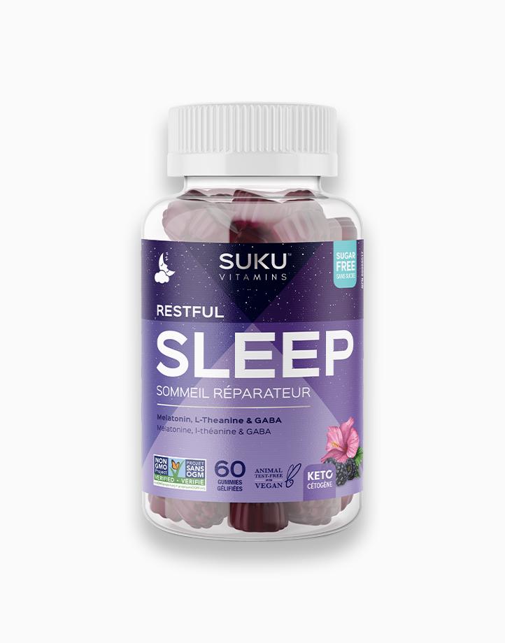 Restful Sleep - Blackberry Hibiscus Flavor (60 Gummies) by SUKU Vitamins