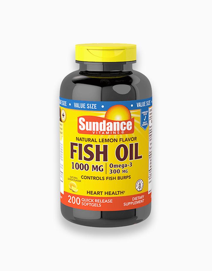 Natural Lemon Fish Oil 1000mg 200 Softgels by Sundance Vitamins
