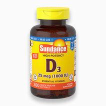 Vitamin D3 1000 IU 300 Softgels Value Size by Sundance Vitamins