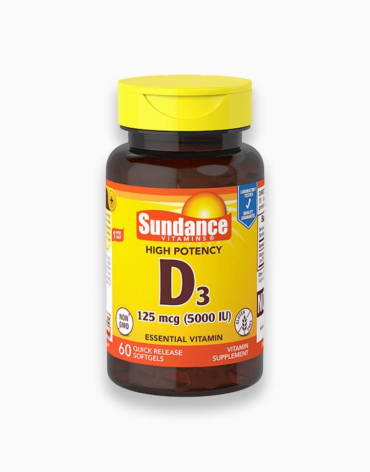 Vitamin D3 5000 IU 60 Softgels by Sundance Vitamins