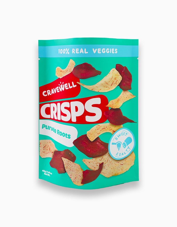 Purple Root Crisps in Sweet & Salty (40g) by Cravewell