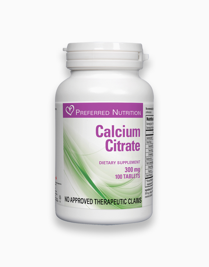Calcium Citrate (300mg Dietary Supplement Tablet) by Preferred Nutrition