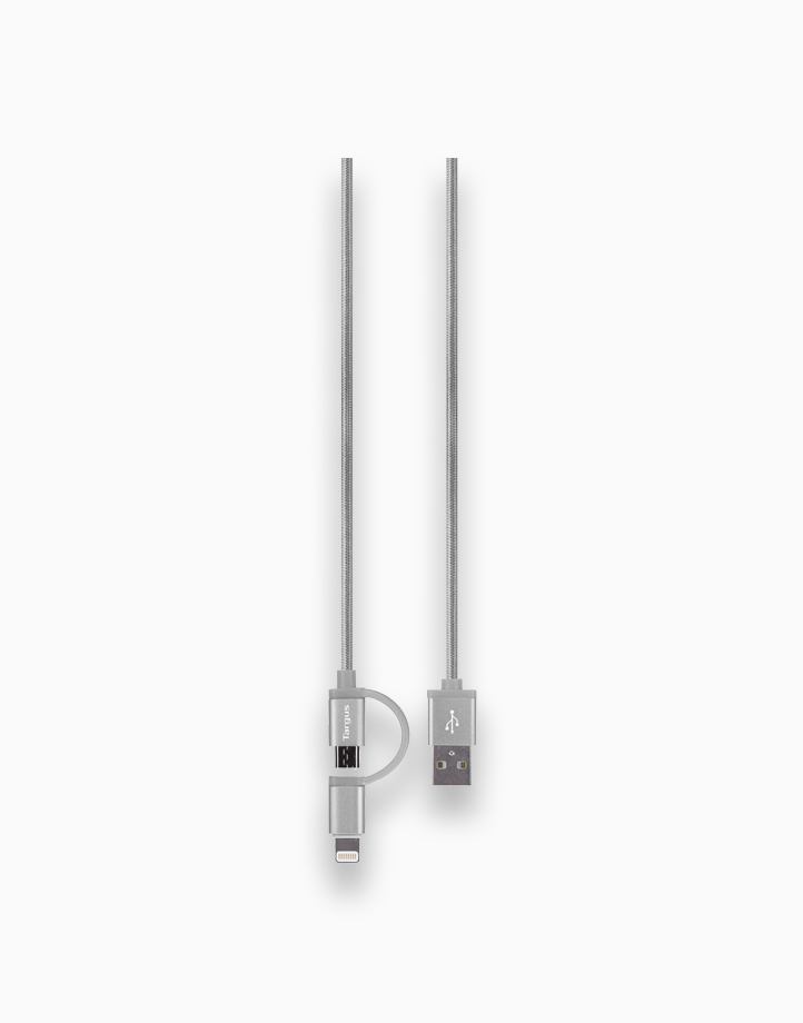 Aluminium Series 2-in-1 Lightning Cable by Targus   Silver
