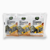 Bibigo Seaweed Snack Original Sesame (5g x 3 - Pack of 2) by CJ Foods