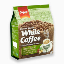 Charcoal Roasted White Coffee Hazelnut Flavor (36g x 15 packs) by SUPER