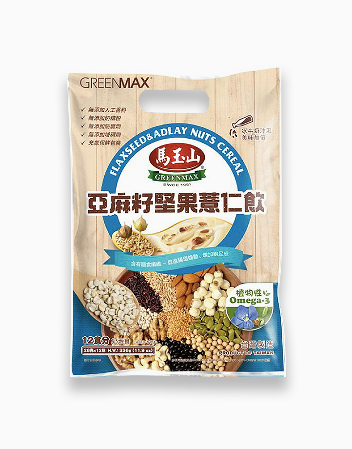 Flaxseed & Adlay Nuts Cereal (28g x 12) by Greenmax