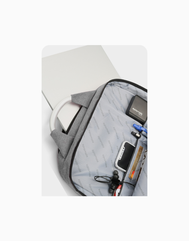"""Nova-BP Secure Backpack for Laptops up to 15.6"""" with Multiple Storage Options by Promate   Black"""