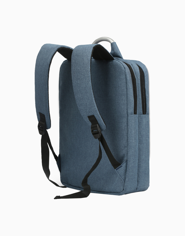 """Nova-BP Secure Backpack for Laptops up to 15.6"""" with Multiple Storage Options by Promate   Blue"""