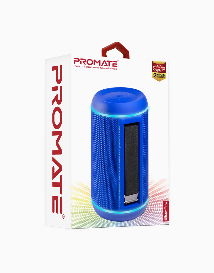 Silox-Pro 30W True Wireless Stereo Speaker with LED Light Show by Promate   Blue