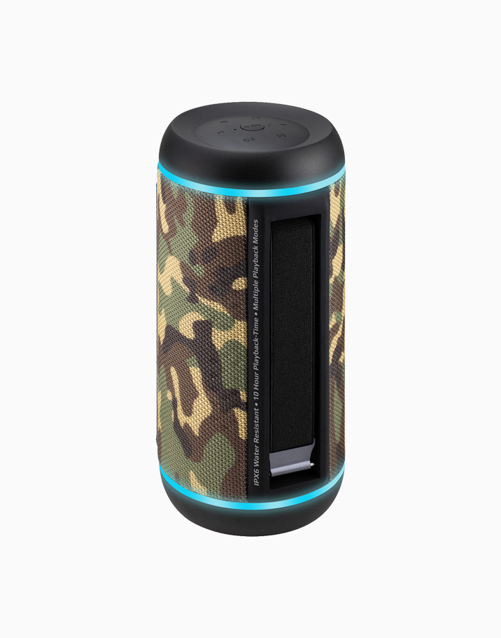 Silox-Pro 30W True Wireless Stereo Speaker with LED Light Show by Promate   Camouflage