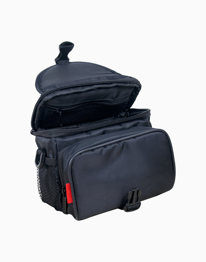 Xpose-M Compact Camera Case with Front Storage, Side Mesh Pocket and Shoulder Strap - Black by Promate