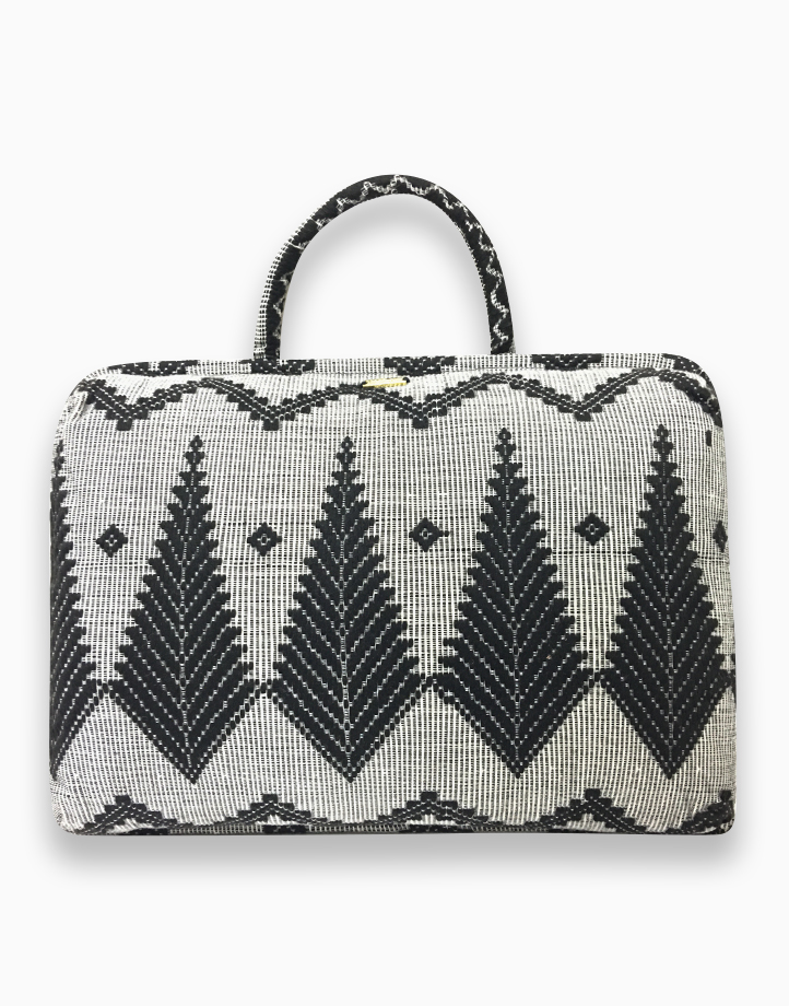 Laptop Pillow by Habi Home | Black Feather