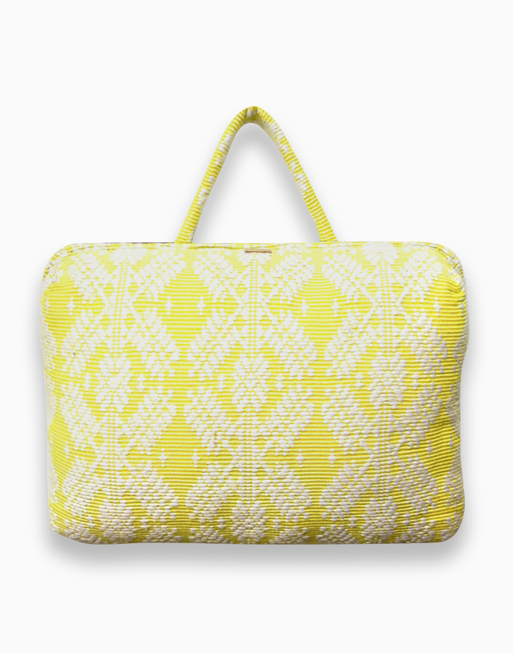 Laptop Pillow by Habi Home | Yellow Snowflake