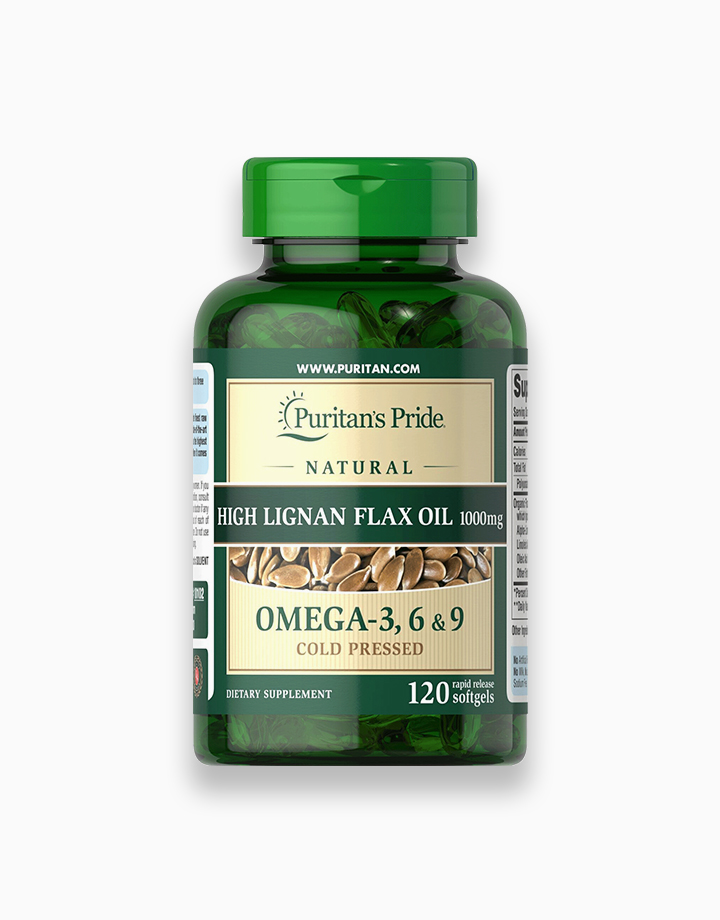 Flax Oil 1000mg (120 Softgels) by Puritan's Pride