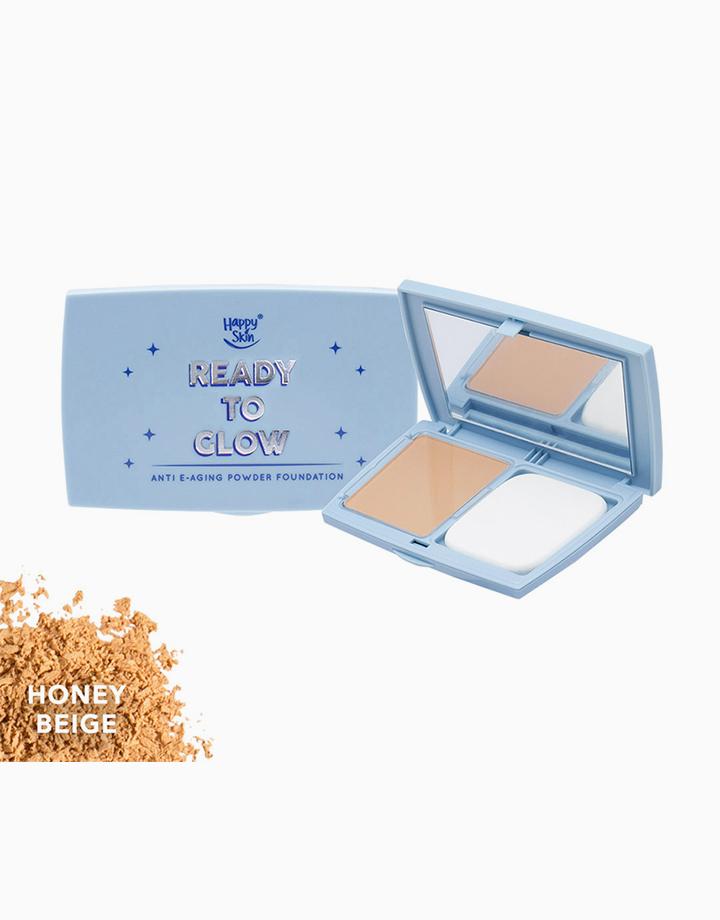 Ready to Glow Anti E-Aging Powder Foundation by Happy Skin | Honey Beige