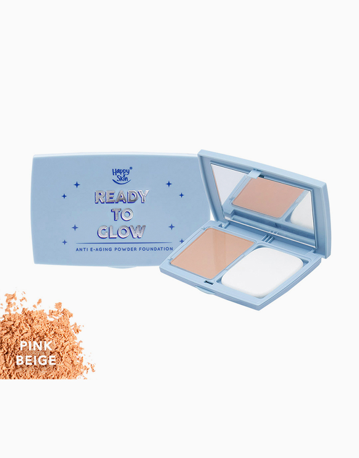 Ready to Glow Anti E-Aging Powder Foundation by Happy Skin | Pink Beige